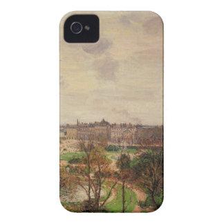 ルーバー朝の庭、灰色の天候 Case-Mate iPhone 4 ケース