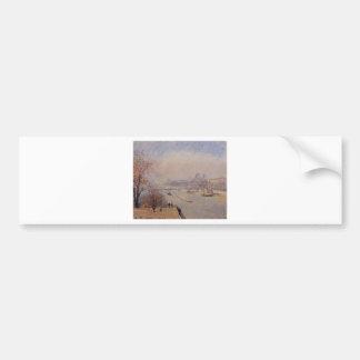 ルーバー、カミーユ・ピサロ著3月の霧 バンパーステッカー