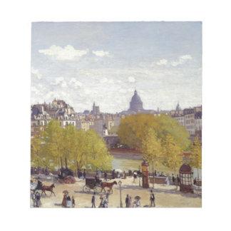 ルーバー、クロード・モネ著パリの波止場 ノートパッド