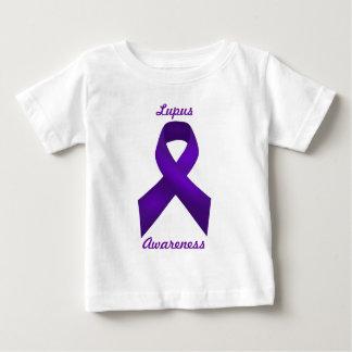 ループスの認識度の紫色のリボン ベビーTシャツ