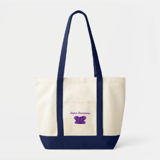 ループスの認識度の紫色の妖精の蝶 トートバッグ