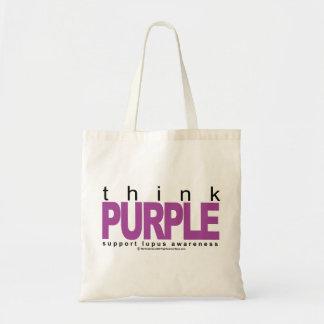 ループスは紫色を考えます トートバッグ