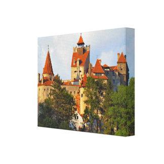 ルーマニアのぬかのドラキュラの城 キャンバスプリント