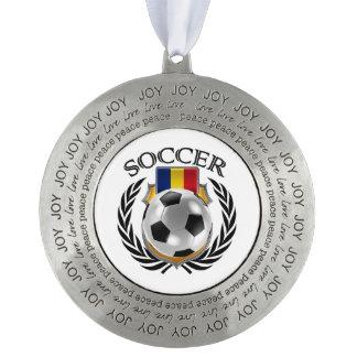 ルーマニアのサッカー2016ファンのギア オーナメント