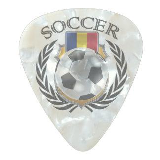 ルーマニアのサッカー2016ファンのギア パールセルロイド ギターピック