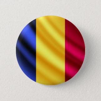ルーマニアの振る旗のpinbackボタン 缶バッジ