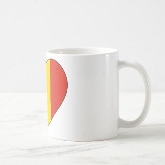 ルーマニアの旗のシンプル コーヒーマグカップ