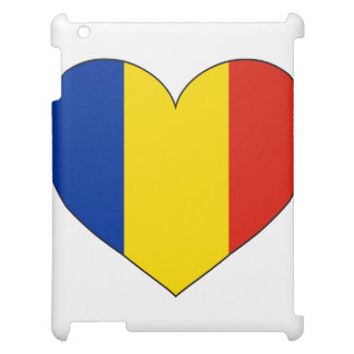 ルーマニアの旗のシンプル iPadケース
