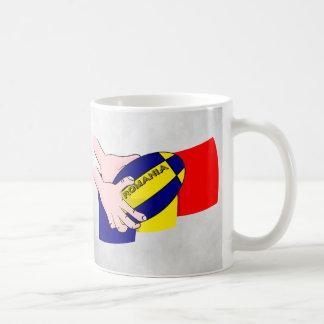 ルーマニアの旗のルーマニアのラグビーサポータ コーヒーマグカップ