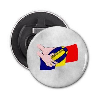 ルーマニアの旗のルーマニアのラグビーサポータ 栓抜き