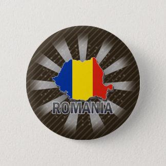 ルーマニアの旗の地図2.0 缶バッジ