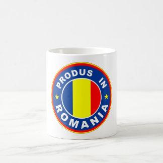 ルーマニアの旗のprodusのルーマニアのラベルで作られる コーヒーマグカップ