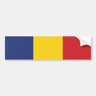 ルーマニアの明白な旗 バンパーステッカー