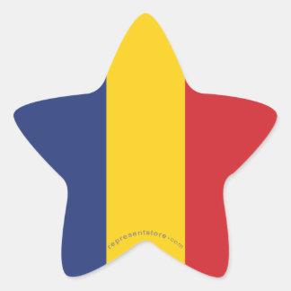 ルーマニアの明白な旗 星シール