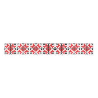 ルーマニアの民俗民族の花の幾何学的なモチーフの衣裳 グログランリボン