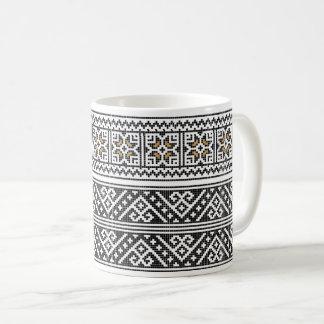 ルーマニアの民芸のコーヒー・マグ コーヒーマグカップ