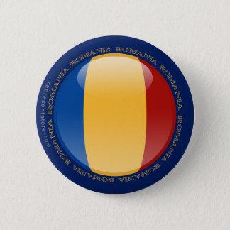 ルーマニアの泡旗 缶バッジ