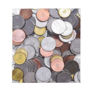 ルーマニアの硬貨 ノートパッド