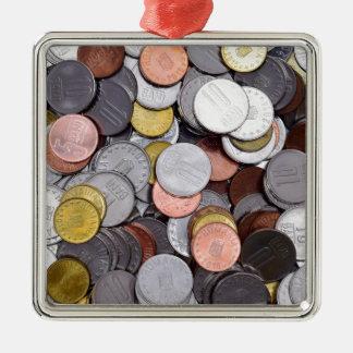 ルーマニアの硬貨 メタルオーナメント