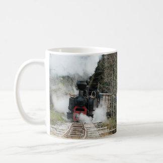 ルーマニアの蒸気の列車 コーヒーマグカップ