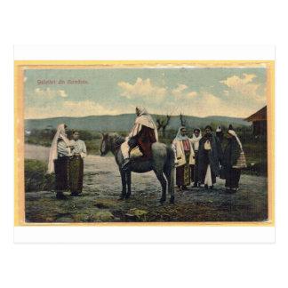 ルーマニアの1910年に郵送される郵便はがきからの挨拶 ポストカード
