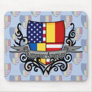 ルーマニアアメリカの盾の旗 マウスパッド