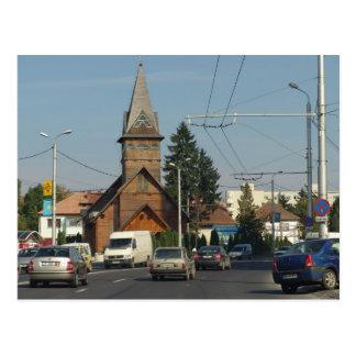 ルーマニア、Brasovの木教会 ポストカード