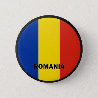 ルーマニアRoundelの質の旗 5.7cm 丸型バッジ