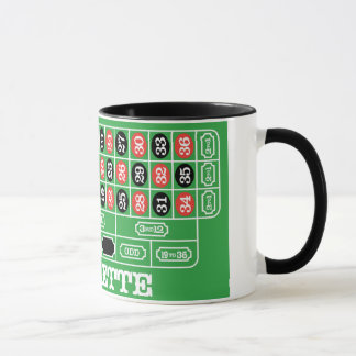 ルーレットのテーブル-勝つべきカジノの賭け マグカップ