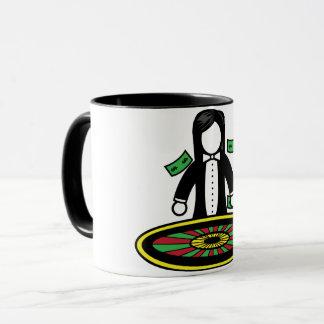 ルーレットのディーラーのマグ マグカップ