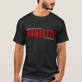 ルーレットのロゴV1黒いT Tシャツ