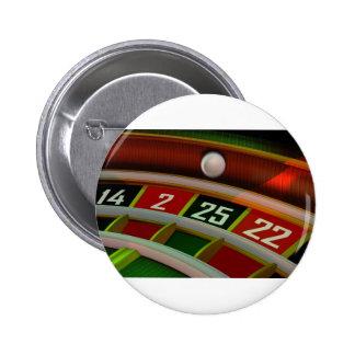 ルーレットのRuletのカジノのゲーム 5.7cm 丸型バッジ