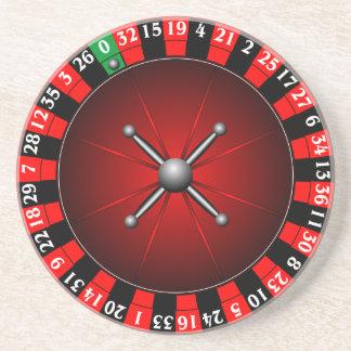 ルーレット盤を持つカジノのイラストレーション コースター