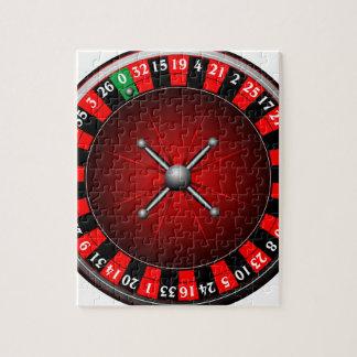ルーレット盤を持つカジノの絵 ジグソーパズル
