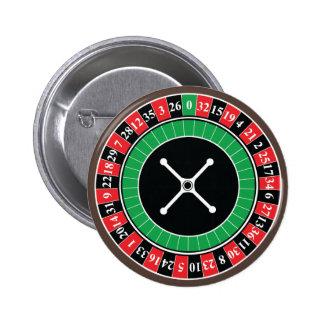 ルーレット盤ボタンのバッジ 5.7CM 丸型バッジ