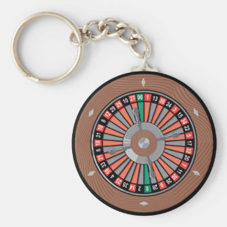 ルーレット盤-勝つべきカジノの演劇 キーホルダー