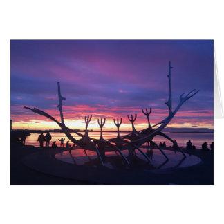レイキャビクの日没の挨拶状#3 カード