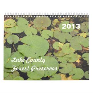 レイク郡の森林は2013カレンダーを維持します カレンダー