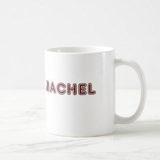 レイチェルのあずき色の名前 コーヒーマグカップ