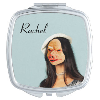"""""""レイチェル""""の一流のブタの顔の鏡"""