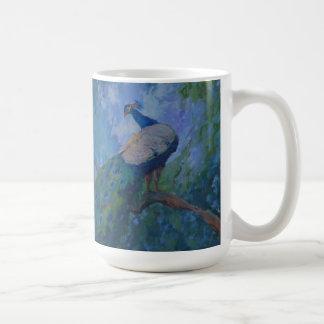 レイチェルUchizono著孔雀の絵画 コーヒーマグカップ