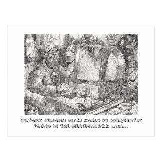 レインコートについての歴史の授業 ポストカード
