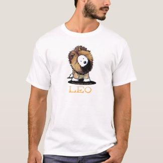 レオのライオンのWestieの白のTシャツ Tシャツ
