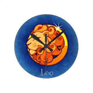 レオの印の柱時計 ラウンド壁時計