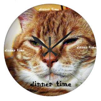 レオの夕食時の時計 ラージ壁時計