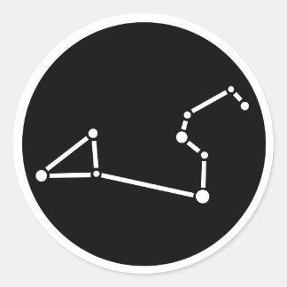 レオの星座のステッカー ラウンドシール