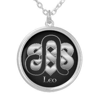 レオの誕生の印のケルト結び目模様の(占星術の)十二宮図のネックレス シルバープレートネックレス
