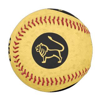 レオの黄色い(占星術の)十二宮図 野球ボール
