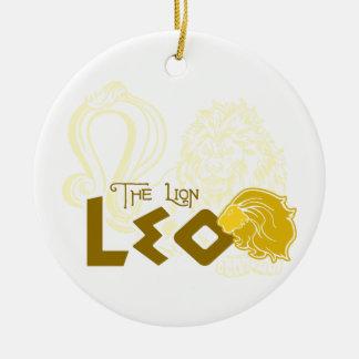 レオの(占星術の)十二宮図のデザイン セラミックオーナメント