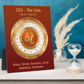 レオの(占星術の)十二宮図の印人格特性 フォトプラーク
